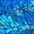 "Peacock feather abstraction, triptych 6""x18"", acrylic on canvas, © 2014 Donna Grandin. SOLD"