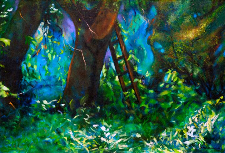 """Choices, 24""""x36"""", acrylic on canvas, © Donna Grandin."""