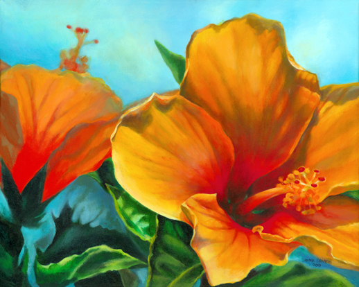 "Let the sun shine in, 24"" x 30"", acrylic on canvas, © Donna Grandin. SOLD"